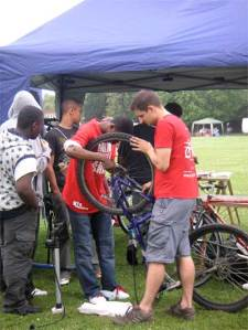 Chris and the boys at Cycletastic